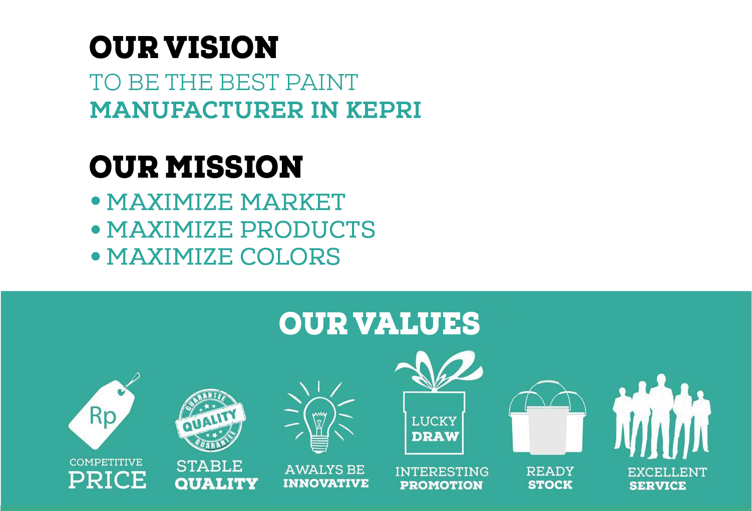 Vision Mission Values