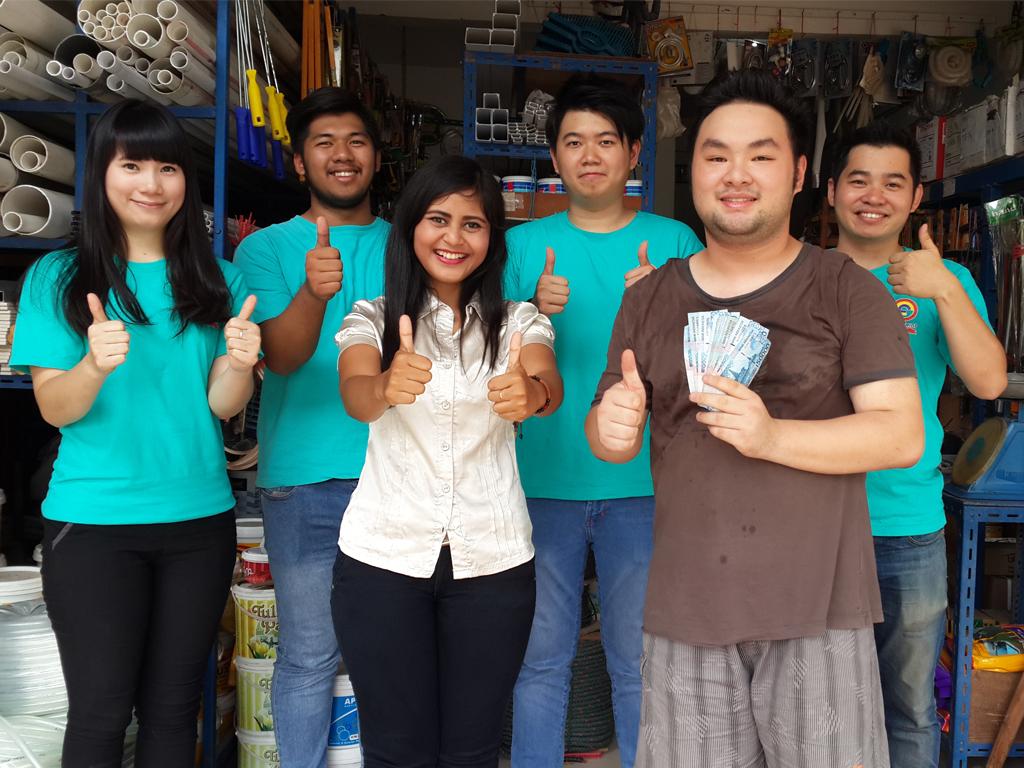 Pemenang Uang Kaget Toko – Bangun Prima (Batam)