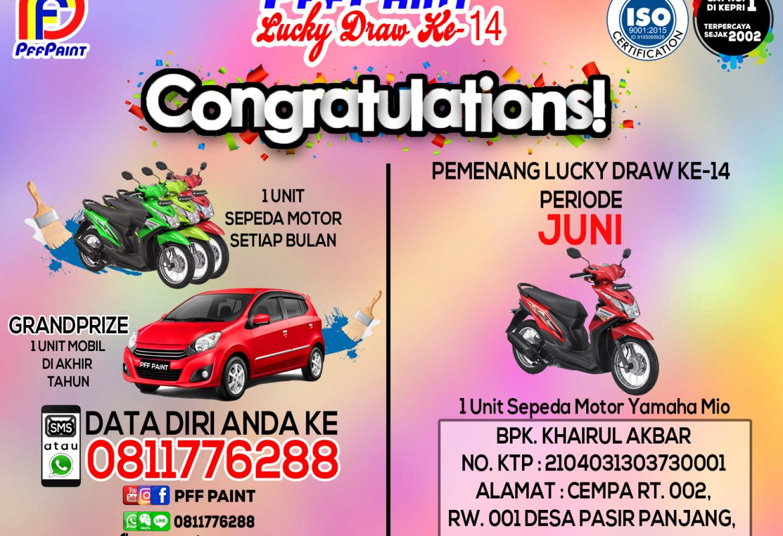 Pemenang Lucky Draw ke 14 Periode Juni- Khairul Akbar (Lingga)