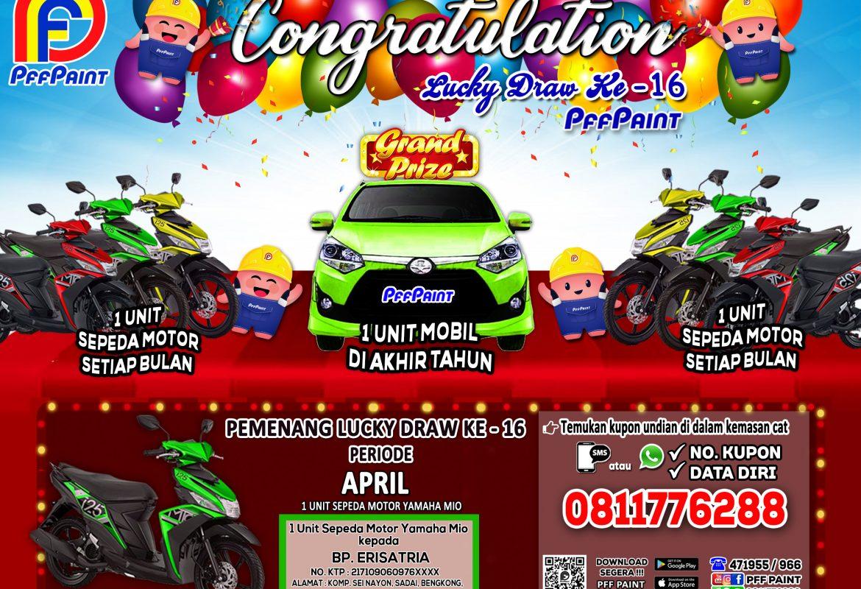 Pemenang Lucky Draw Ke – 16 Periode April 2020 – Bp. Erisatria (Batam)